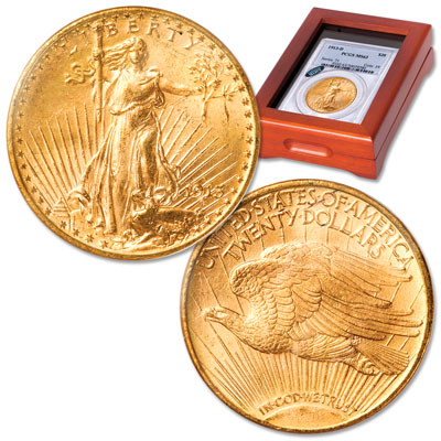 Image for 1913-D $20 Saint-Gaudens Gold Piece from Littleton Coin Company