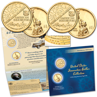 Image for 2018 P&D Washington's Signature U.S. Innovation Dollar Set from Littleton Coin Company