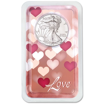 Image for 2019 Silver American Eagle in Love Showpak from Littleton Coin Company