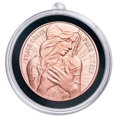 Image for 2018 Peace on Earth Copper Round Ornament from Littleton Coin Company