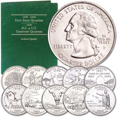 Image for 1999-2008 Statehood Quarter Set with Folder from Littleton Coin Company