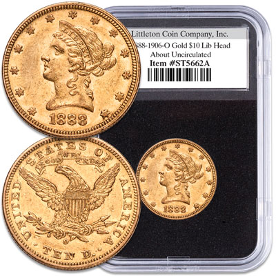 "Image for 1888-1906 ""O"" Mint Liberty Head $10 Gold Piece from Littleton Coin Company"
