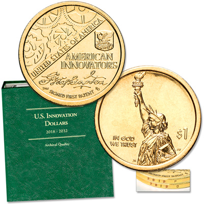 Image for 2018 P&D Washington's Signature U.S. Innovation Dollar Set with Album from Littleton Coin Company