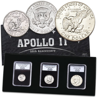 Image for 50th Anniversary Moon Landing Set from Littleton Coin Company