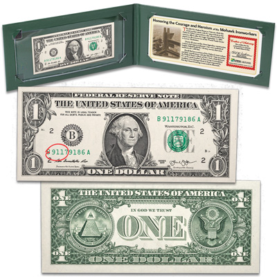 Image for 2013 $1 Federal Reserve Note with 911 Serial Number in Wallet from Littleton Coin Company