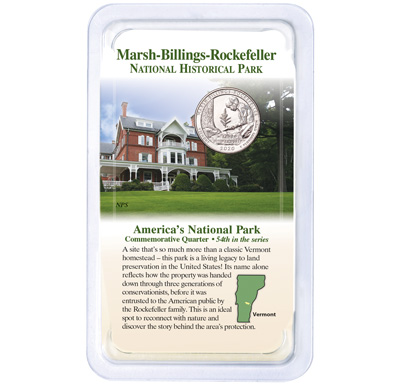 Image for 2020 Marsh-Billings-Rockefeller National Historical Park Quarter in Showpak from Littleton Coin Company