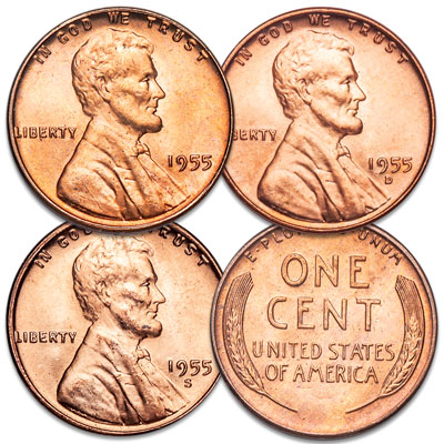 Image for 1955 PDS Lincoln Head Cent Set from Littleton Coin Company