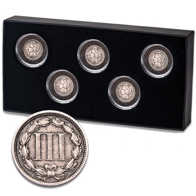 Image for 1865-1869 Nickel Three Cent Piece Set from Littleton Coin Company