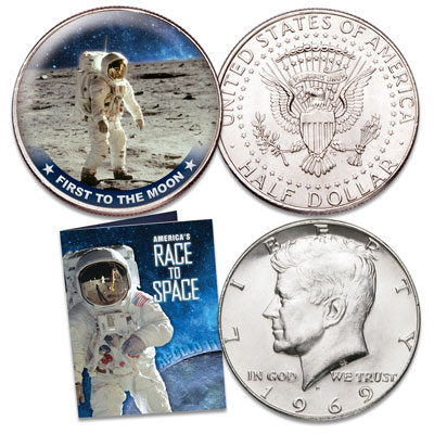 Image for America's Race to Space - First to the Moon from Littleton Coin Company