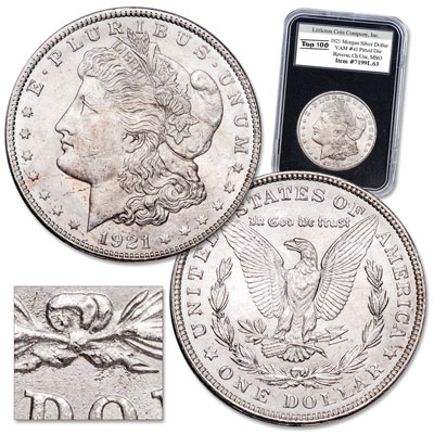 Image for 1921 Morgan Silver Dollar VAM-41, Pitted Die Reverse from Littleton Coin Company
