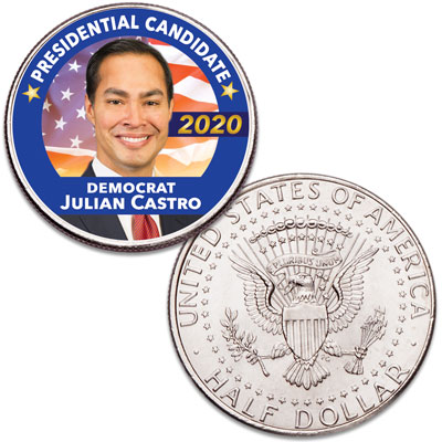 Image for Colorized Julian Castro Presidential Candidate Coin from Littleton Coin Company