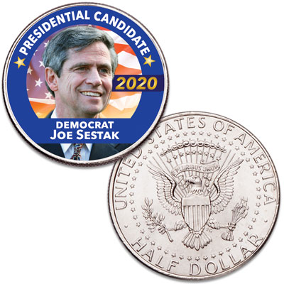 Image for Colorized Joe Sestak Presidential Candidate Coin from Littleton Coin Company