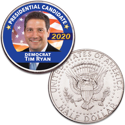 Image for Colorized Tim Ryan Presidential Candidate Coin from Littleton Coin Company