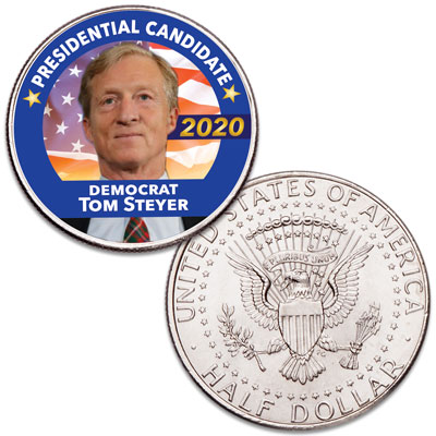 Image for Colorized Tom Steyer Presidential Candidate Coin from Littleton Coin Company