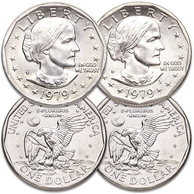 Image for 1979 P&D Susan B. Anthony Dollar Set from Littleton Coin Company
