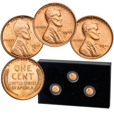 Image for 1944-1946 Lincoln Head Cent Shell Casing Set from Littleton Coin Company