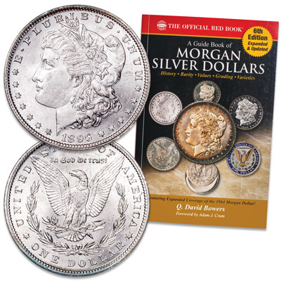 Image for 1896 Morgan Silver Dollar with Guide Book from Littleton Coin Company