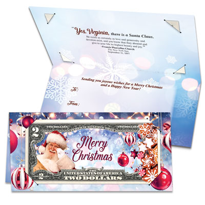 Image for Colorized Note Merry Christmas Card from Littleton Coin Company