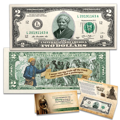 Image for Colorized $2 Federal Reserve Note - Harriet Tubman from Littleton Coin Company