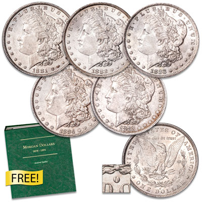 "Image for 1881-1885 ""O"" Mint Morgan Dollar Set with Album from Littleton Coin Company"