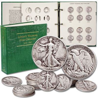 Image for Complete 1941-1947 Liberty Walking Half Dollar Short Set from Littleton Coin Company