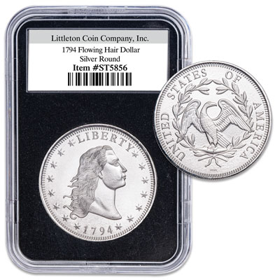 Image for 1794 Flowing Hair Dollar 1 oz. Silver Replica from Littleton Coin Company