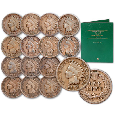 Image for 1887-1908 Indian Head Cents with Folder from Littleton Coin Company