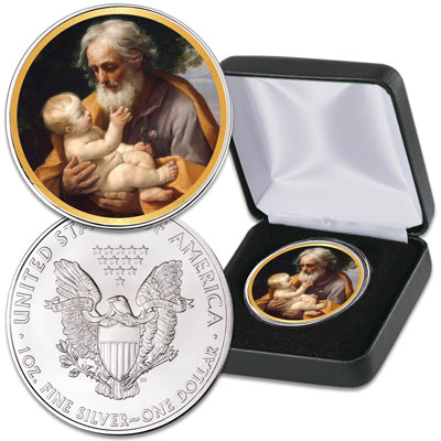 Image for 2019 Colorized Joseph & Jesus Silver American Eagle from Littleton Coin Company