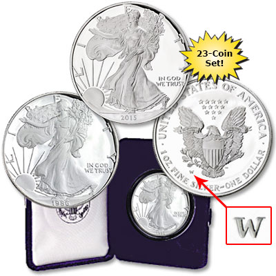 Image for 1986-2015 American Eagle Silver Dollar Set from Littleton Coin Company