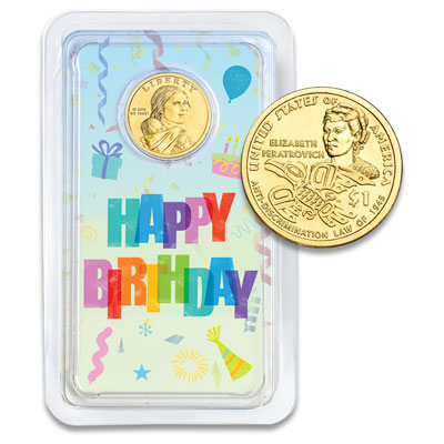 Image for 2020 Native American Dollar Happy Birthday Showpak from Littleton Coin Company