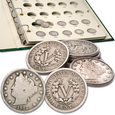 Image for 1883-1912 Liberty Head Nickel Set with Album from Littleton Coin Company