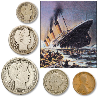Image for 1912 Titanic Year Set (5 coins) from Littleton Coin Company