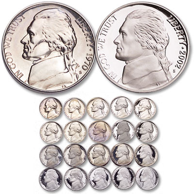 Image for 1970-2002 Jefferson Nickel Set (20 coins), Choice Proof, PR-63 from Littleton Coin Company