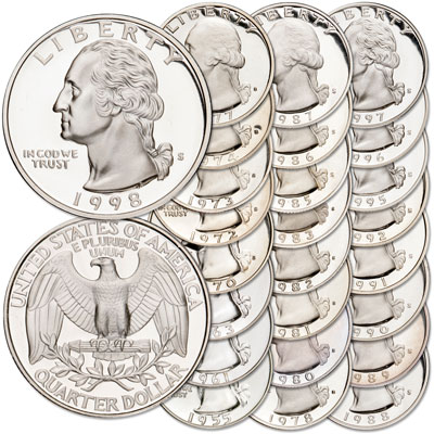 Image for 1955-1998 Washington Quarter Set (25 coins) from Littleton Coin Company