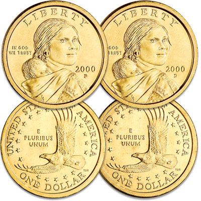Image for 2000 Sacagawea Dollar P&D Set from Littleton Coin Company