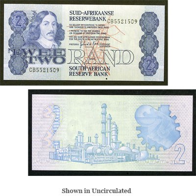 Image for ND (1983-1990) South Africa 2 Rand, P#118d, Uncirculated from Littleton Coin Company