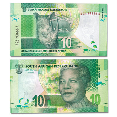 Image for ND(2012) South Africa 10 Rand Note from Littleton Coin Company
