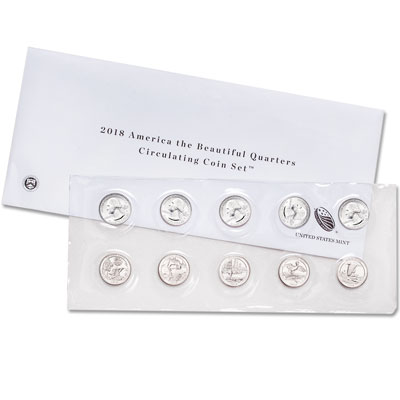 Image for 2018 P&D National Park Quarter Set from Littleton Coin Company