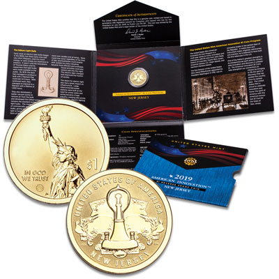Image for 2019-S New Jersey U.S. Innovation Dollar Reverse Proof from Littleton Coin Company