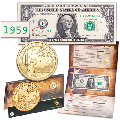 Image for 2019 Native American Dollar Coin and Currency Set from Littleton Coin Company