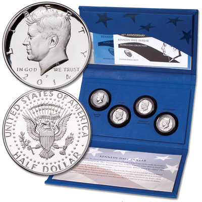 Image for 2014 Kennedy Half Dollar 50th Anniversary Silver Collection from Littleton Coin Company