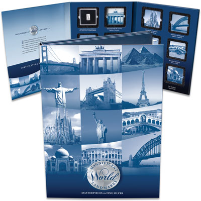 Image for 2019 Magnificent World Landmarks Folder from Littleton Coin Company
