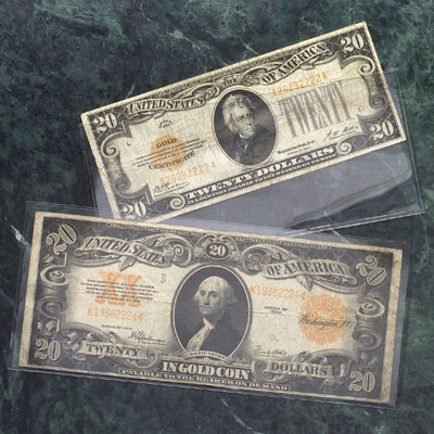 Image for 25 Small Size Currency Holders from Littleton Coin Company