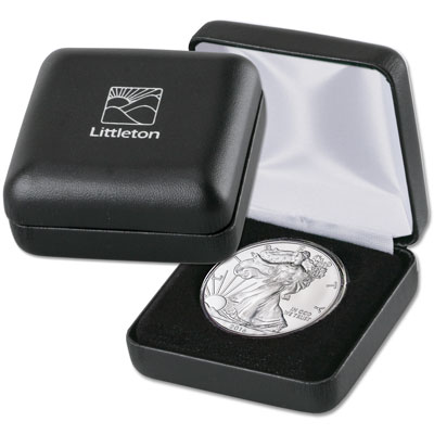 "Image for LCC Single Coin Leatherette Case - 1.75"" from Littleton Coin Company"