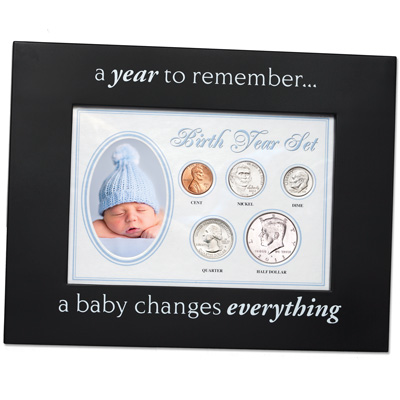 Image for Birth Year Frame - Blue from Littleton Coin Company