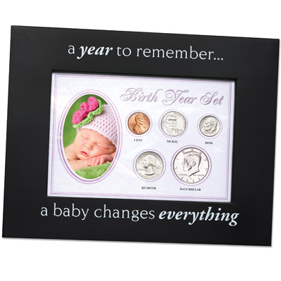 Image for Birth Year Frame - Pink from Littleton Coin Company