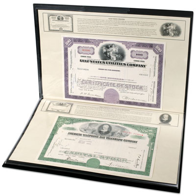 Image for ITOYA Stocks and Bonds Album (holds 48 Railroad stocks) from Littleton Coin Company