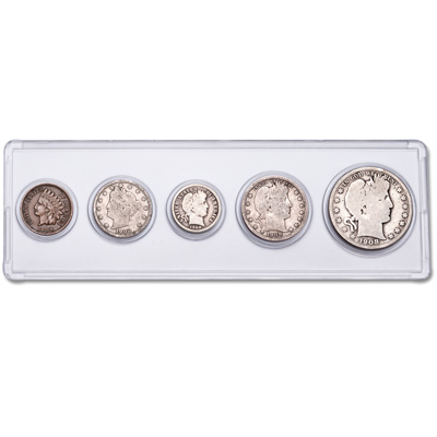 Image for 1908 Year Set with Holder (5 coins) from Littleton Coin Company