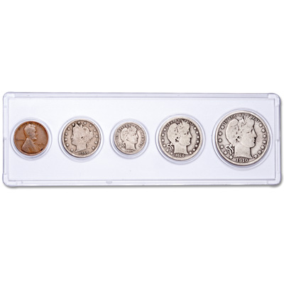 Image for 1910 5-Coin Year Set with Holder from Littleton Coin Company