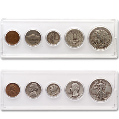 Image for 1939 Silver Year Set (5 coins) from Littleton Coin Company